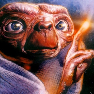 E.T The Extra Terrestrial - painting